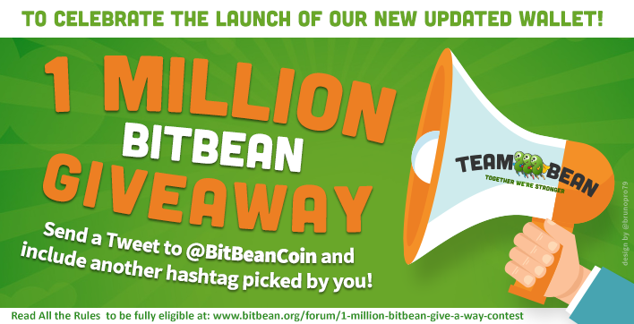 1 Million BitBean Giveaway Contest