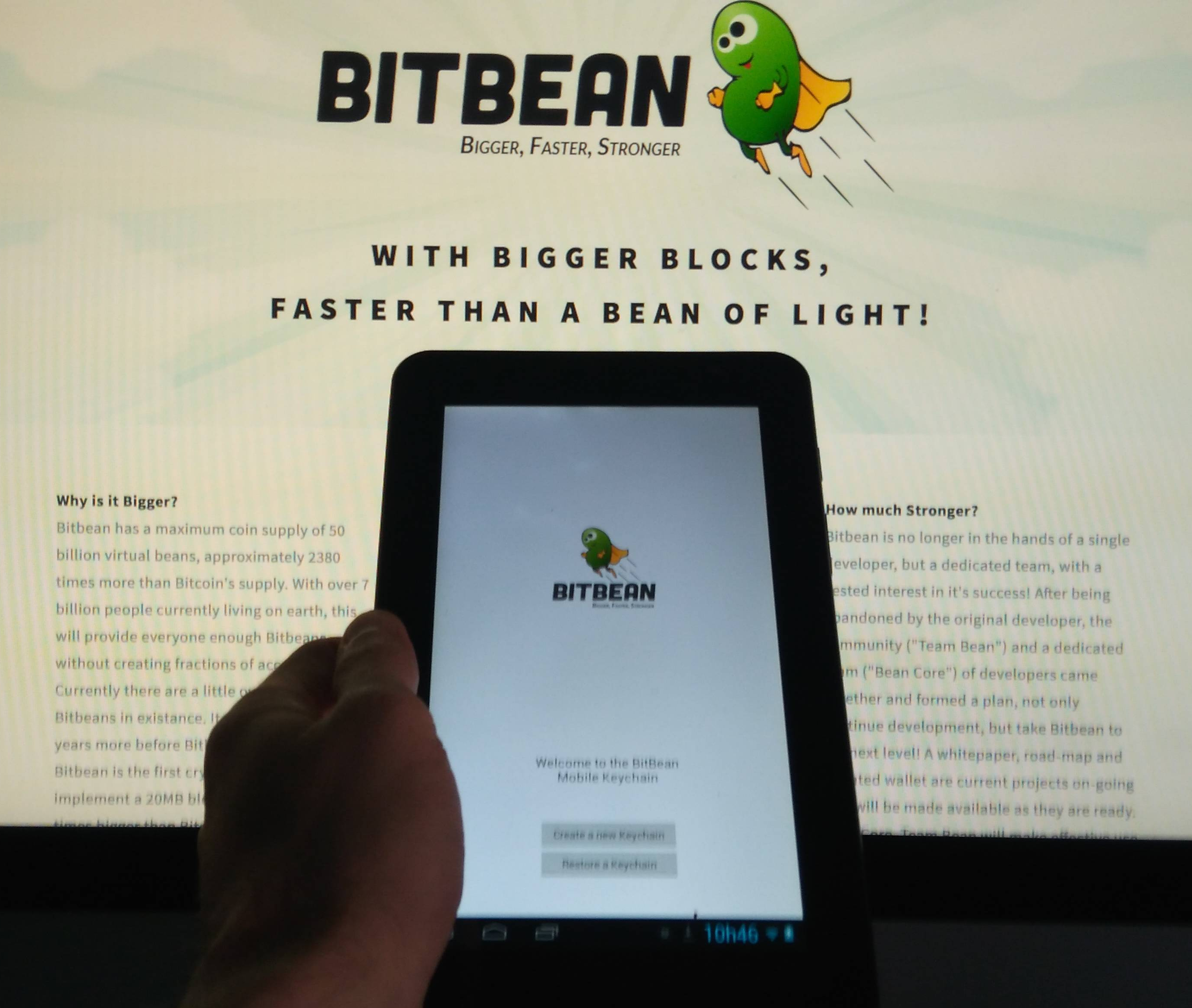 Download the new Android BitBean Keychain Wallet